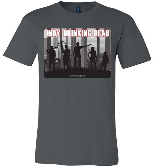 Indy Drinking Dead Podcast Men's T-Shirt Asphalt / S - MyMerch.us