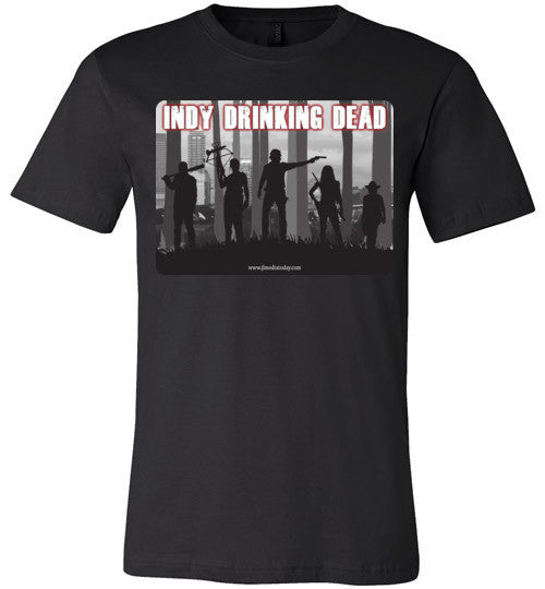 Indy Drinking Dead Podcast Men's T-Shirt Black / S - MyMerch.us