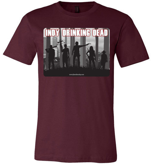 Indy Drinking Dead Podcast Men's T-Shirt Maroon / S - MyMerch.us