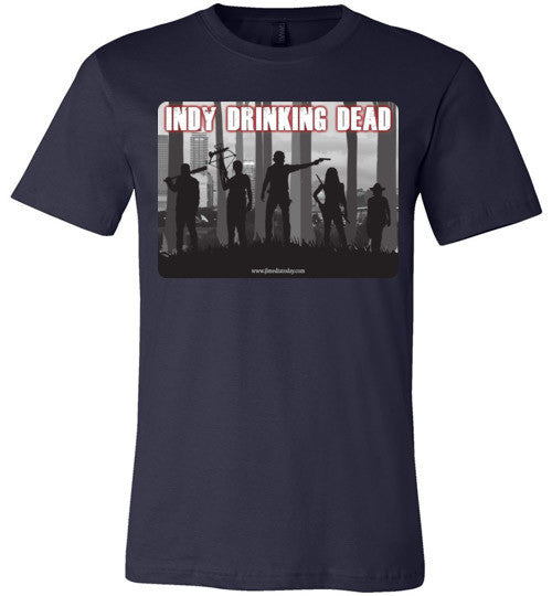 Indy Drinking Dead Podcast Men's T-Shirt Navy / S - MyMerch.us