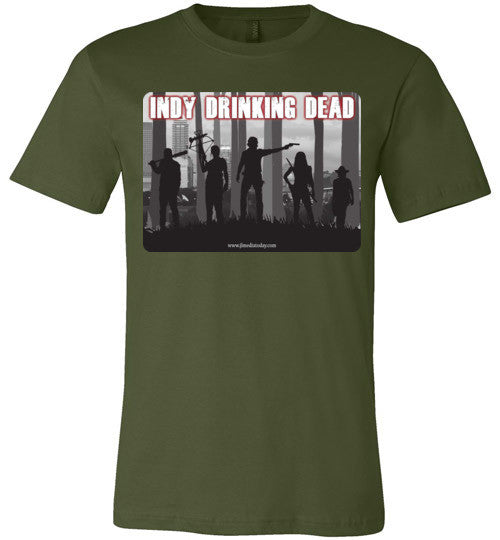 Indy Drinking Dead Podcast Men's T-Shirt Olive / S - MyMerch.us