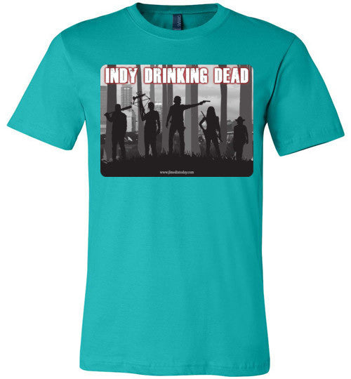 Indy Drinking Dead Podcast Men's T-Shirt Teal / S - MyMerch.us