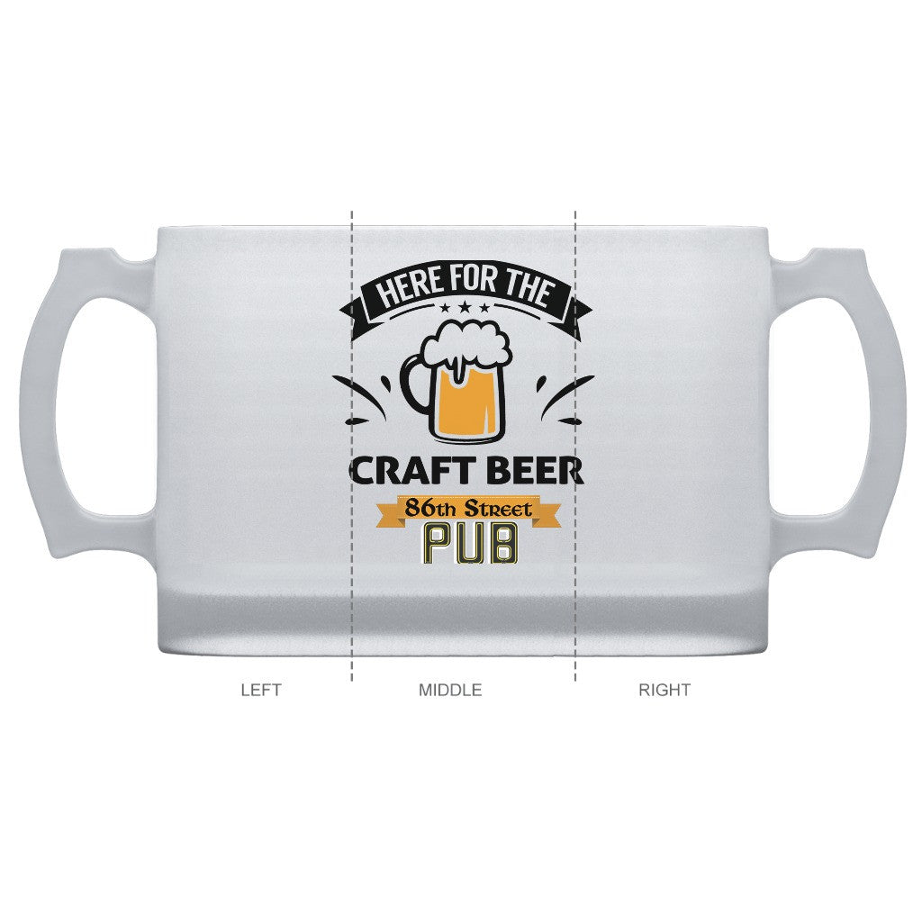 86th Street Pub Frosted Beer Mug Frosted Glass - MyMerch.us
