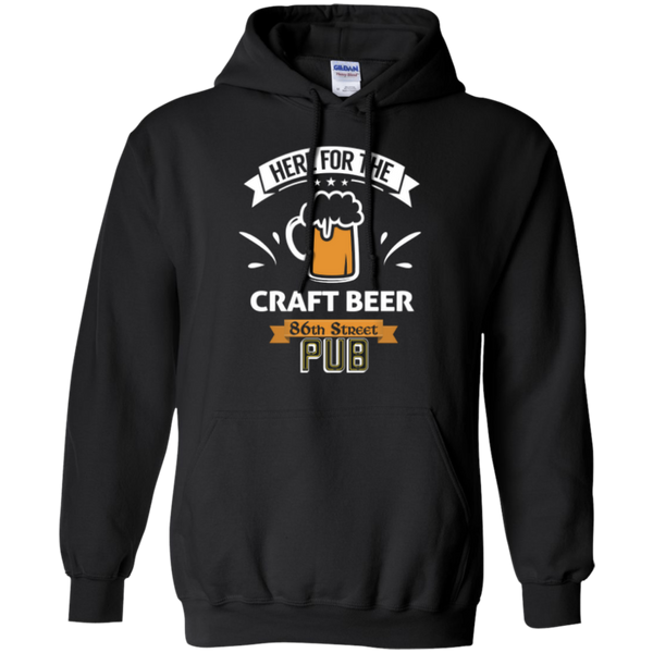 86th Street Pub Craft Beer Hoodie Black / Small - MyMerch.us
