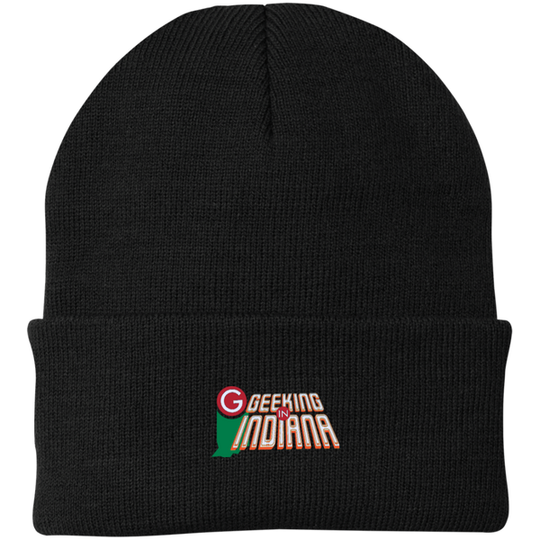 Geeking in Indiana Knit Hat Black / One Size - MyMerch.us