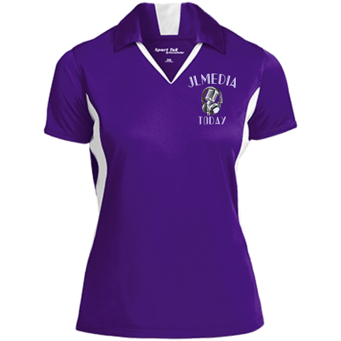 JL Media Today Ladies' Performance Polo Purple/White / X-Small - MyMerch.us