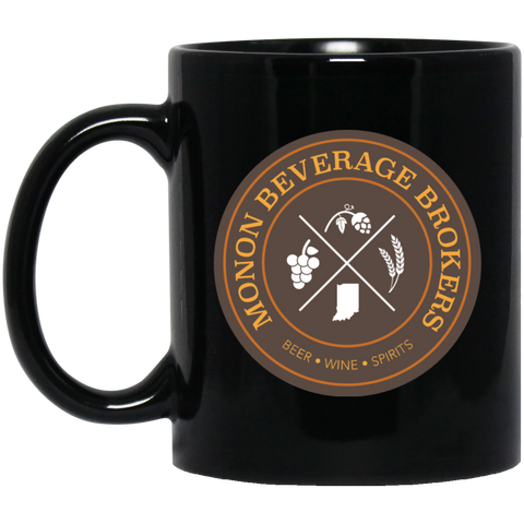 Monon Beverage Brokers 11 oz. Black Mug Black / One Size - MyMerch.us