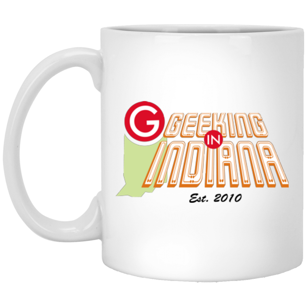 Geeking in Indiana 11oz Mug White / One Size - MyMerch.us