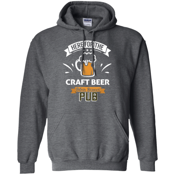 86th Street Pub Craft Beer Hoodie Dark Heather / Small - MyMerch.us