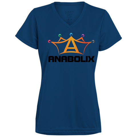 Anabolix Skate Ladies' Wicking T-Shirt True Navy / Small - MyMerch.us