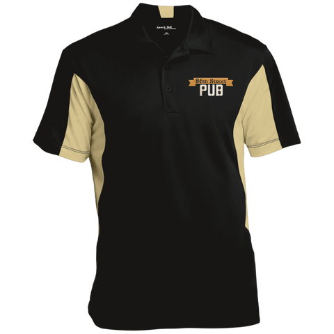 86th Street Pub Men's Colorblock Performance Polo Black/Vegas Gold / Medium - MyMerch.us