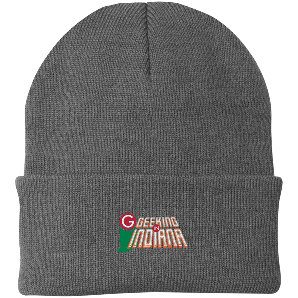 Geeking in Indiana Knit Hat Athletic Oxford / One Size - MyMerch.us