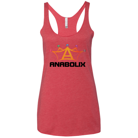 Anabolix Skate Triblend Racerback Tank Vintage Red / Small - MyMerch.us