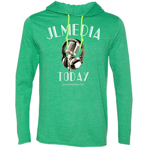 JL Media Today Men's T-Shirt Hoodie Heather Green/Neon Yellow / Small - MyMerch.us
