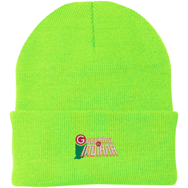 Geeking in Indiana Knit Hat Neon Green / One Size - MyMerch.us