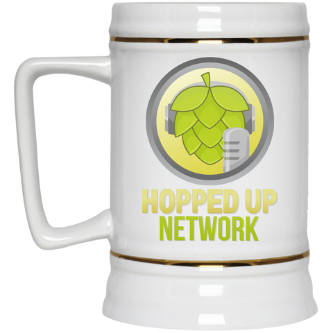 Hopped Up Network Beer Stein White - MyMerch.us