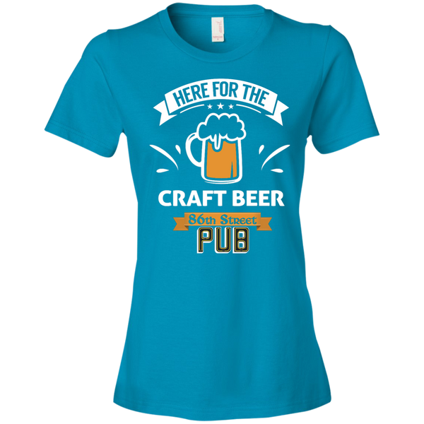 86th Street Pub Craft Beer Ladies' T-Shirt Caribbean Blue / Small - MyMerch.us