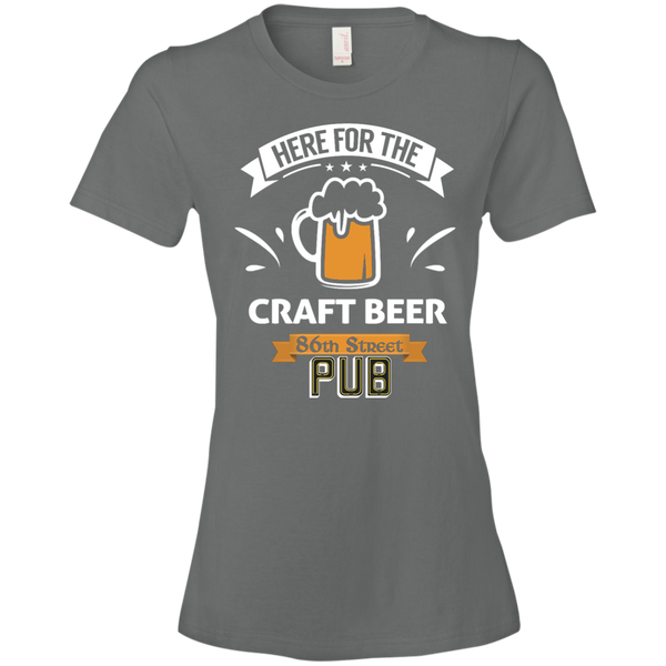86th Street Pub Craft Beer Ladies' T-Shirt Storm Grey / Small - MyMerch.us