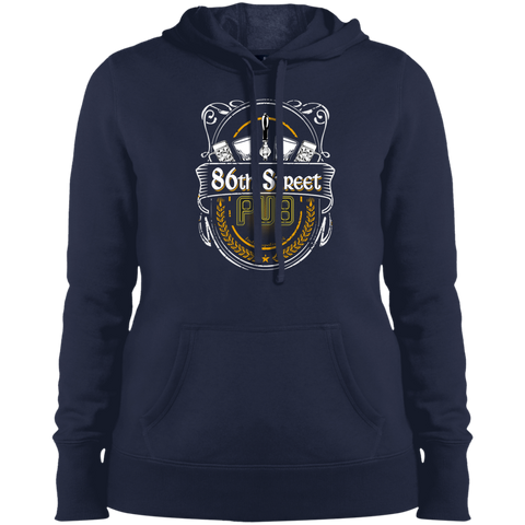 86th Street Pub Crest Ladies' Hoodie True Navy / Small - MyMerch.us