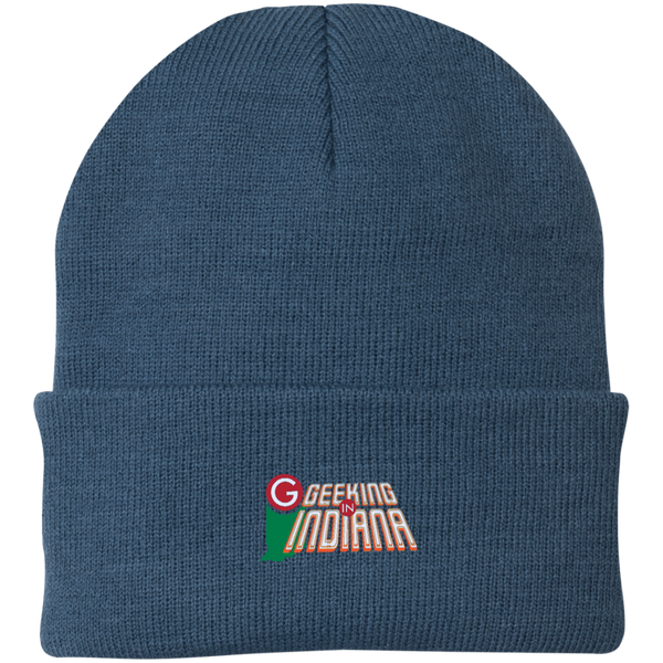 Geeking in Indiana Knit Hat Millennium Blue / One Size - MyMerch.us