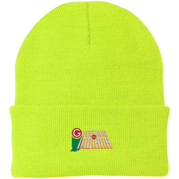 Geeking in Indiana Knit Hat Neon Yellow / One Size - MyMerch.us