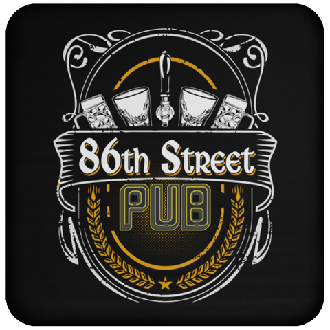 86th Street Pub Coaster One Size - MyMerch.us