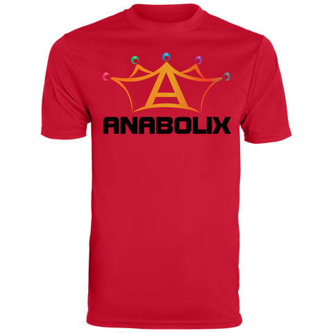 Anabolix Skate Men's Wicking T-Shirt True Red / Small - MyMerch.us