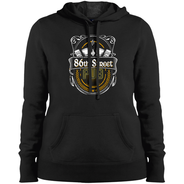 86th Street Pub Crest Ladies' Hoodie Black / Small - MyMerch.us