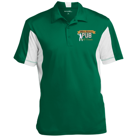 86th Street Pub Golf Team Polo Kelly Green/White / Small - MyMerch.us