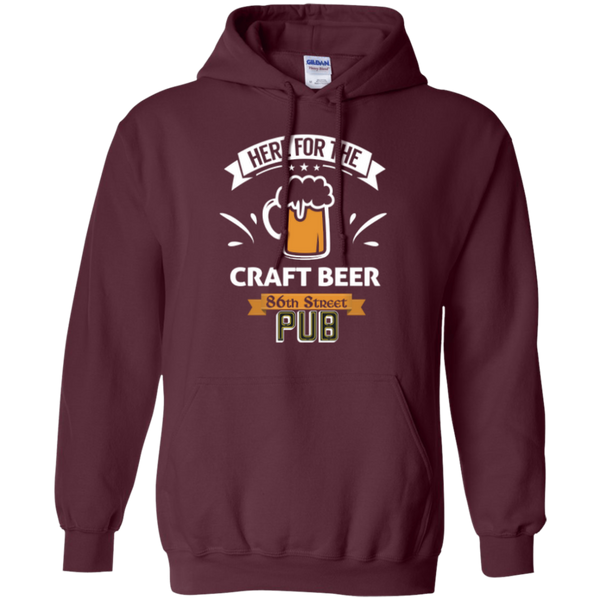 86th Street Pub Craft Beer Hoodie Maroon / Small - MyMerch.us