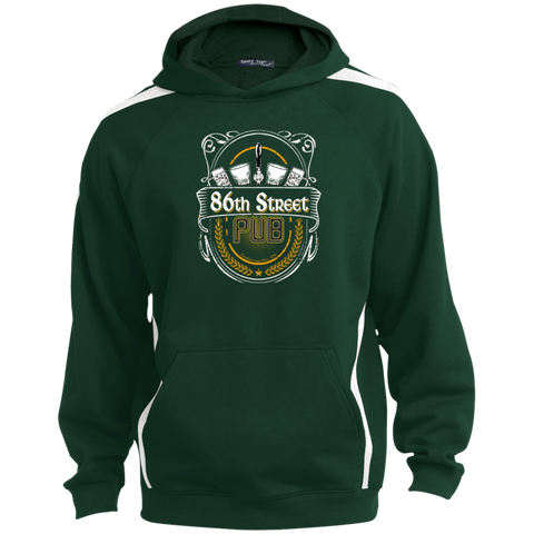 86th Street Pub Crest Hoodie Forest Green/White / Medium - MyMerch.us