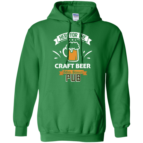 86th Street Pub Craft Beer Hoodie Irish Green / Small - MyMerch.us