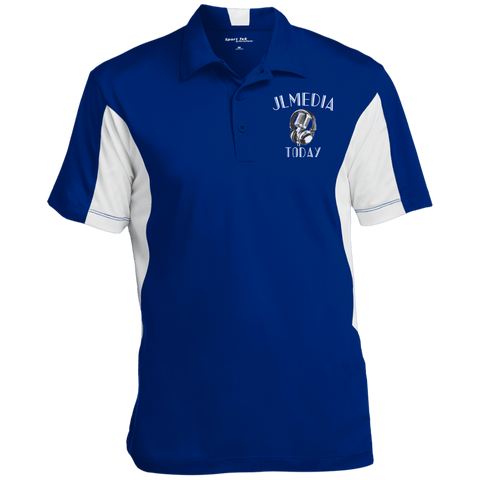 JL Media Today Performance Polo True Royal/White / Small - MyMerch.us