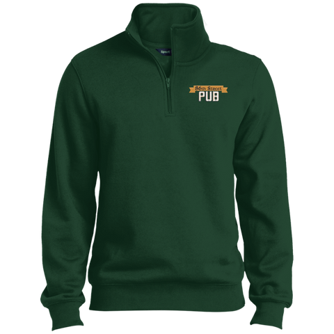 86th Street Pub 1/4 Zip Sweatshirt Forest / Medium - MyMerch.us