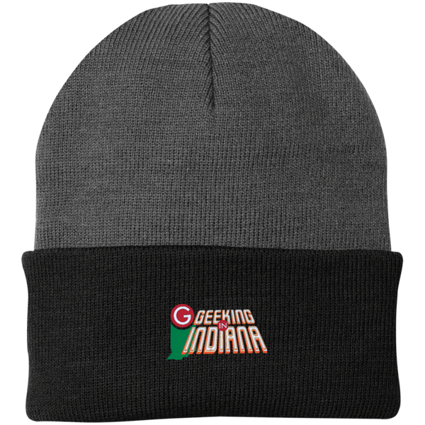 Geeking in Indiana Knit Hat Athletic Oxford/Black / One Size - MyMerch.us