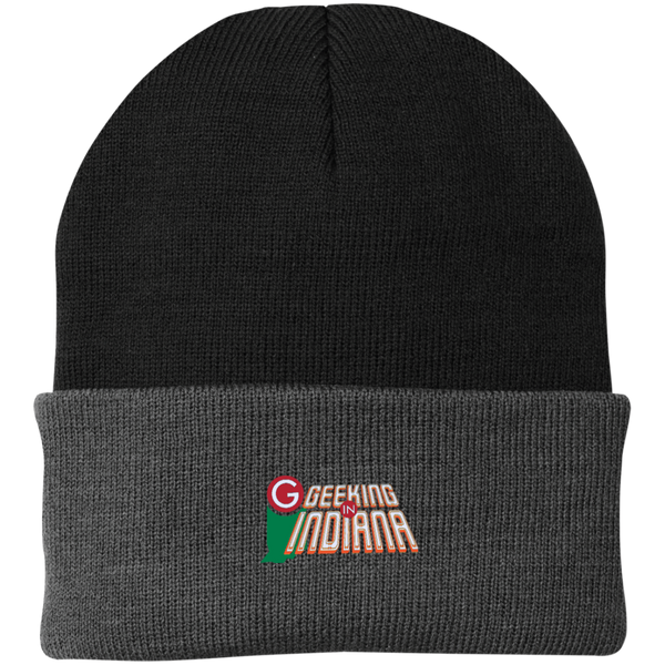 Geeking in Indiana Knit Hat Black/Athletic Oxford / One Size - MyMerch.us
