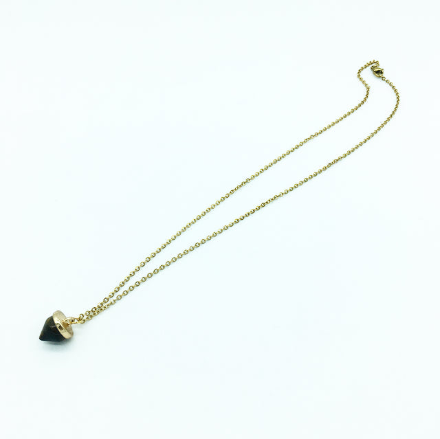 Tiger's Eye Droplet Necklace