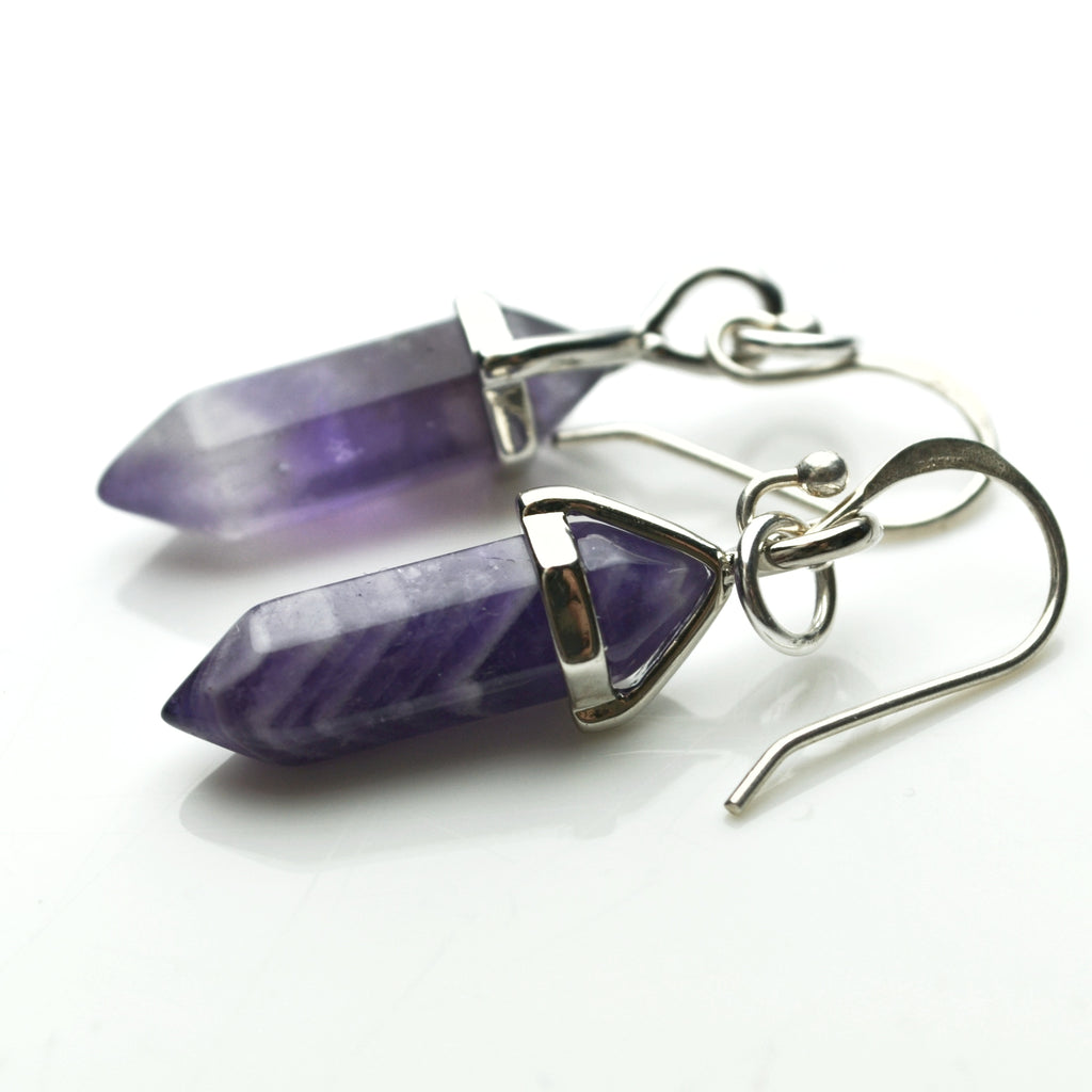 Amethyst Point Earrings - Lost Cosmos