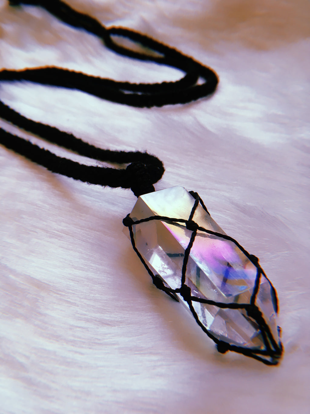 Angel Aura Quartz Pendant