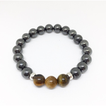 Hematite and Tigers Eye Bracelet Of Strength - Lost Cosmos
