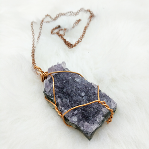 Raw Amethyst Geode Necklace