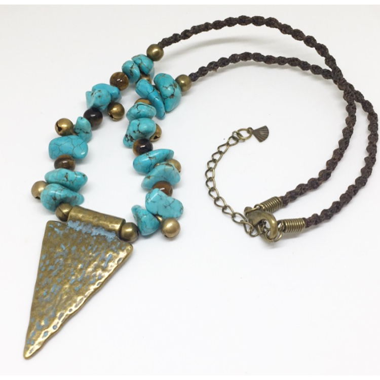 Goddess Protection Turquoise Necklace - Lost Cosmos