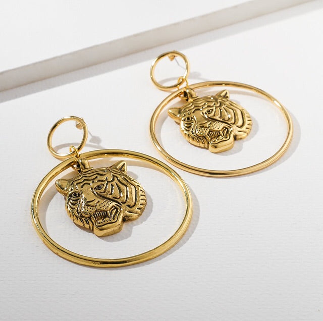 The Golden Tigress Earrings