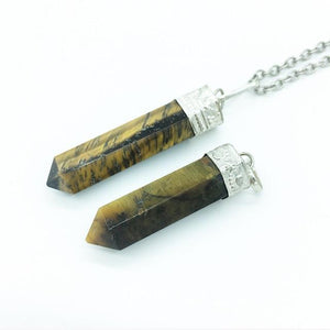 Golden Tiger's Eye Crystal Point Pendant