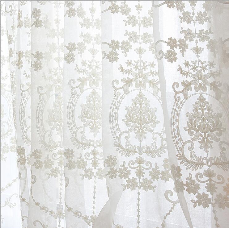 GIGIZAZA Mr John white jaquard voile curtains for livingroom rod ...