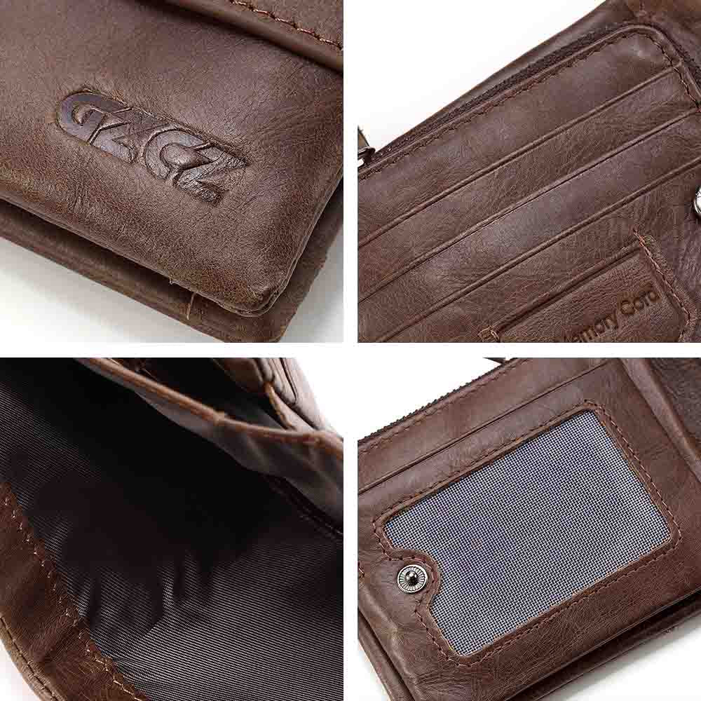 fd1cdcb7678f3 ... GZCZ Genuine Leather Retro Men Wallets High Quality Famous Brand Hasp Design  Male Walet Card Holder ...