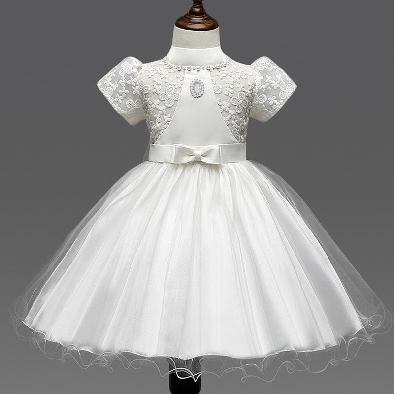 Lace flower girl dresses ivory yellow 3 5 7 years ball gowns for lace flower girl dresses ivory yellow 3 5 7 years ball gowns for infant girls princess mightylinksfo