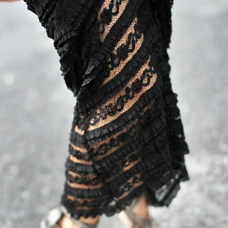 Long Lace Maxi Skirt