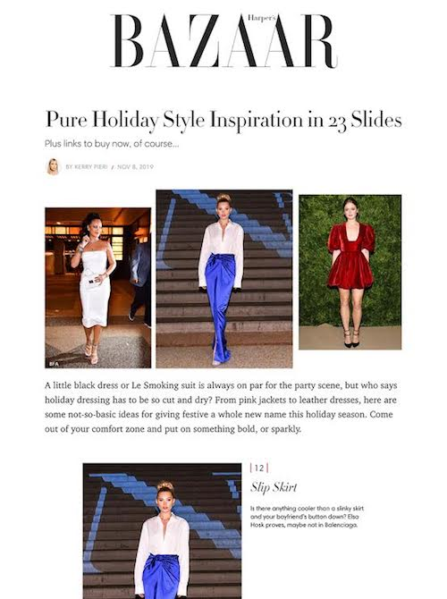 Grammar NYC in Bazaar, holiday style inspiration