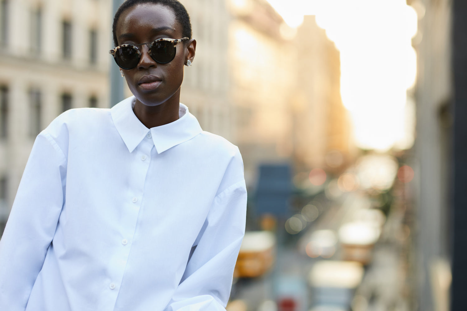 Split Infinitive white shirt by Grammar NYC sustainable fashion organic cotton